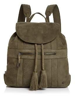 Halston Jerry Medium Nubuck Leather Backpack