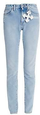 Off-White Women's Logo-Charm Skinny Jeans