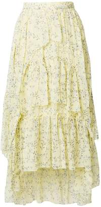 Ulla Johnson ruffled floral skirt
