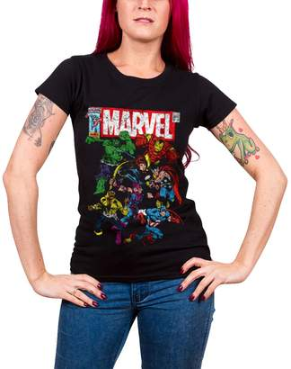 Marvel Comics T Shirt Team-Up new Official Womens Skinny Fit