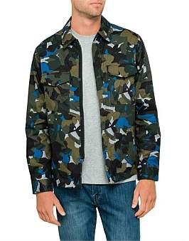 Paul Smith Cotton Floral Camo Shirt Jacket