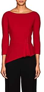 Lanvin Women's Pleated Wool Crepe Blouse - Red