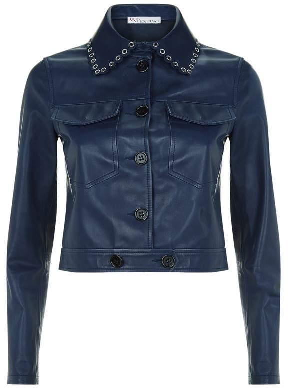 Eyelet Leather Jacket
