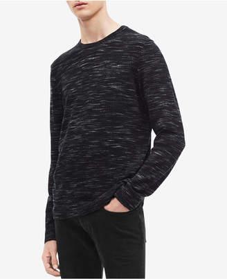 Calvin Klein Men's Space-Dyed Crew Neck Sweater