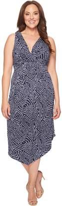 Karen Kane Plus Women's Plus Size Asymmetric Maxi Dress Dress