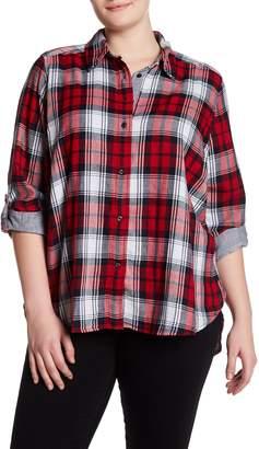 Joe Fresh Plaid Button Shirt (Plus Size)