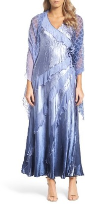 Women's Komarov Maxi Dress & Shawl $418 thestylecure.com