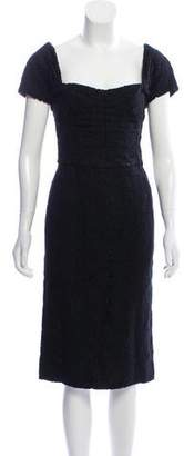 Dolce & Gabbana Wool Lace Dress