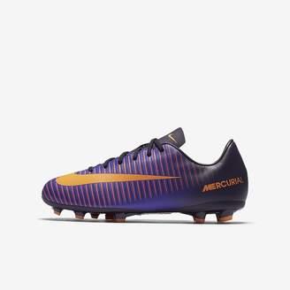 54e131623 Nike JR Mercurial Vapor XI FG Junior Football Boots 831945 Soccer Cleats (6 Big  Kid