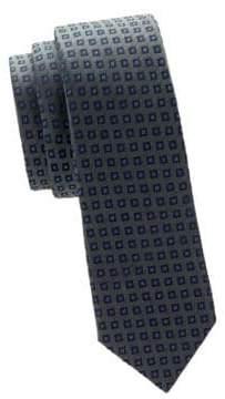 Valentino Geometric Slim Silk Tie