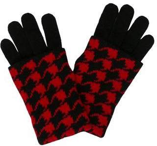 Portolano Houndstooth Knit Gloves w/ Tags