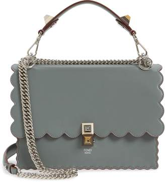 c42ffe8491 Fendi Kan I Scallop Leather Shoulder Bag