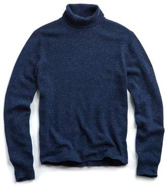 Todd Snyder Marled Chunky Cashmere Turtleneck in Blue