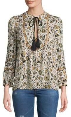 A.L.C. Hari Floral Cotton Top