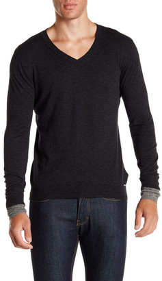 Diesel V-Neck Pullover Sweater $178 thestylecure.com