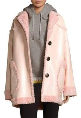 Opening Ceremony Reversible Faux Shearling Coat