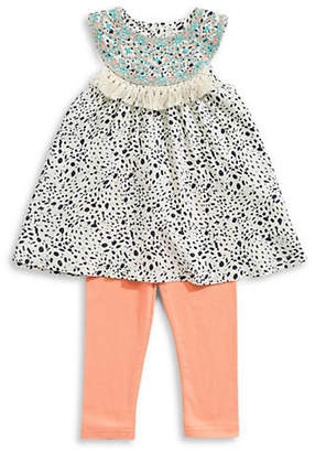 Jessica Simpson Two-Piece Printed Tunic and Stretch Leggings Set