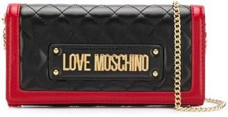 Love Moschino foldover logo wallet