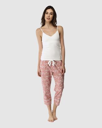 Deshabille Spring Blooms Pants & Cami Set