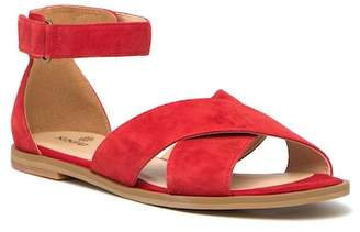 SUSINA Leia Suede Ankle Strap Sandal
