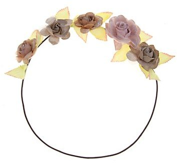 Muted Shimmer Flower Gardland Headband