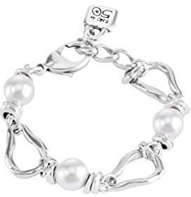 Uno de 50 Women Silver Plated White Pearl