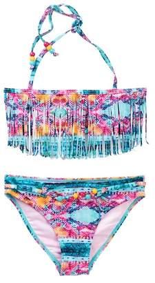 Vigoss Halter Fringe Bandeau 2-Piece Swimsuit Set (Big Girls)