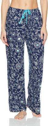 Hue Women's Fashion Print Comfort Fit Long Pajama Pant with Drawstring