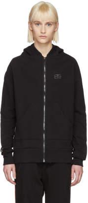 Baja East Black Logo Stripe Zip Hoodie