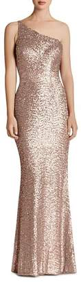 Dress the Population Sequined One-Shoulder Gown