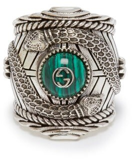 Gucci Large Garden Ring - Mens - Silver