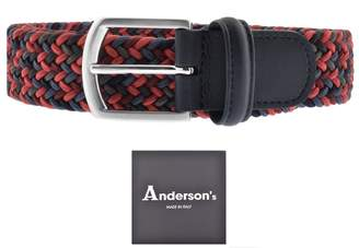 Andersons Belts Andersons Woven Belt Red
