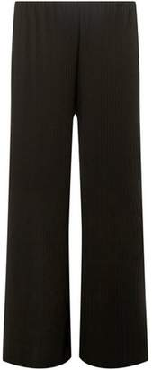 Dorothy Perkins Womens **Juna Rose Curve Black Flare Trousers