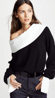 Adeam Convertible Collared Cashmere Sweater