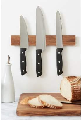 "Ironwood Gourmet Acacia Magnetic Knife Bar Cutlery Storage Length: 12"""