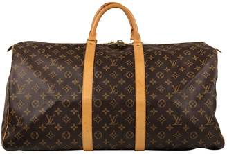 Louis Vuitton Keepall cloth weekend bag