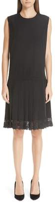 Marc Jacobs Lace Hem Silk Dress