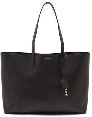Saint Laurent East West Medium Leather Tote - Womens - Black