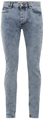 Topman Acid Wash Skinny Jeans
