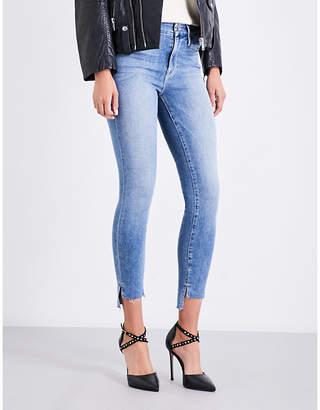 Good American Good Legs stepped hem skinny high-rise jeans