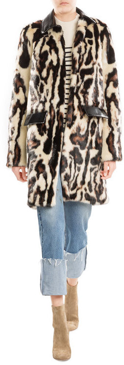Carven Carven Faux Fur Coat