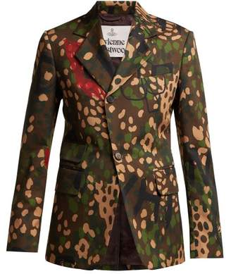 Vivienne Westwood Camouflage Print Single Breasted Cotton Blazer - Womens - Multi
