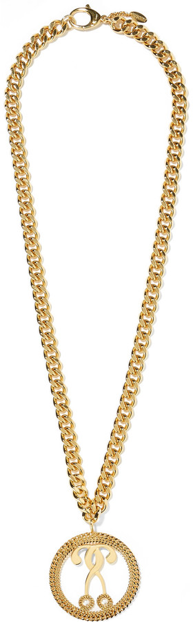 MoschinoMoschino Gold-tone faux pearl necklace