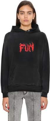Givenchy Fun Printed Hooded Cotton Sweatshirt