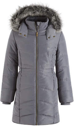 Calvin Klein Everest Puffer Jacket with Faux-Fur Trim, Toddler Girls