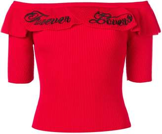 RED Valentino Forever embroidery knit top