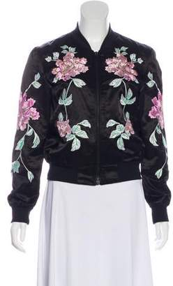 3x1 Floral Embroidered Bomber