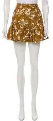 LoveShackFancy Jacquard Mini Skirt