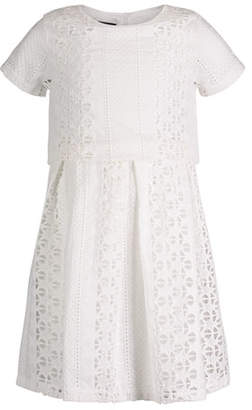 Andy & Evan Short-Sleeve Summer Lace Dress, Size 2-6X