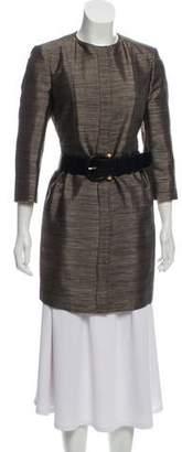 Burberry Metallic Belted Coat